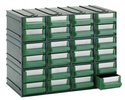Cassettiere In Plastica Per Magazzino.Cassettiera Componibile Da 24 Cassetti Verdi Tipo A